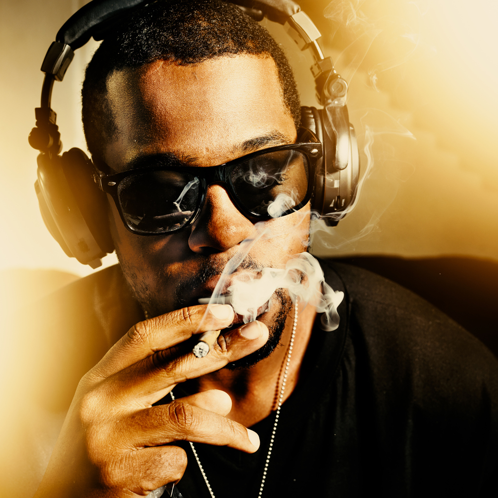 rapper smoking a joint